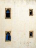 Riad windows in Essaouira. Royalty Free Stock Photos