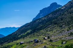 Riaille ceillac queyras in Hautes-Alpes in Frankrijk stock afbeeldingen