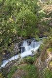 Rialb river waterfall Andorra. A wild waterfall of the Rialb river at the Vall de Sorteny nature park at the Principality of Andorra stock photos