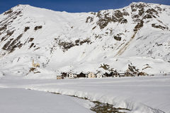 Riale: small village on the alps in winter Stock Image