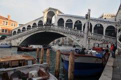 Rialto桥梁在威尼斯,意大利 免版税图库摄影