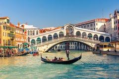 Rialto桥梁在威尼斯 免版税图库摄影