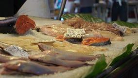 Rialto食品批发市场的场面在威尼斯(12 22) 股票录像