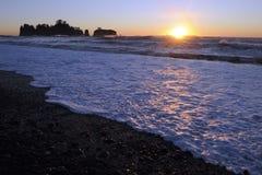 Rialto Beach, Olympic Peninsula, Washington state, USA Royalty Free Stock Images