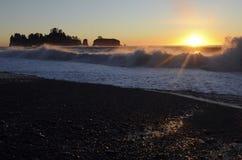 Rialto Beach, Olympic Peninsula, Washington state, USA Stock Photography