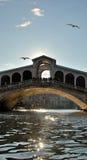 Rialto Brücke in Venedig Stockbild