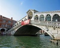 Rialto Bridge. At Venice, Italy royalty free stock photography