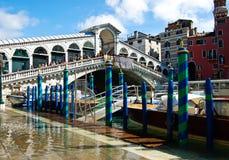 The Rialto bridge with blue sky , Venice, Italy Royalty Free Stock Photography
