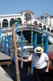 Rialto bridge. The Rialto bridge at the Canal Grande, Venice, Italy Stock Photos
