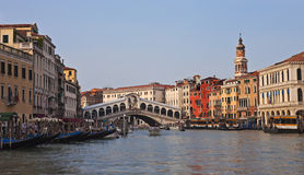 Rialto Bridge, evening panorama Royalty Free Stock Photography