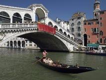 Rialto Bridge - Grand Canal - Venice - Italy Stock Image