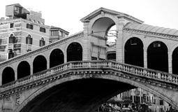 Rialto Bridge and the Grand Canal in Venice Italy Stock Image