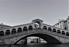 The Rialto Bridge in the Grand Canal in Venice, Italy. royalty free stock photo