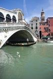 Rialto Bridge and Grand Canal Stock Image