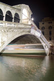 Rialto Bridge night scene Royalty Free Stock Images