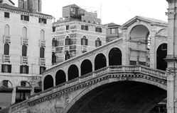 RIALTO Bridge without people in Venice Stock Images