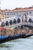 Rialto Bridge Ponte de Rialto over Grand Canal , Venice, Italy Stock Images