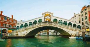 Rialto Bridge (Ponte Di Rialto) Royalty Free Stock Photography