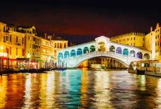 Rialto Bridge (Ponte Di Rialto) in Venice, Italy Stock Photos