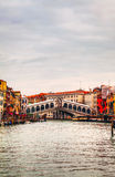 Rialto Bridge (Ponte Di Rialto) in Venice, Italy Stock Photo