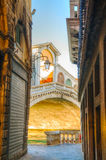 Rialto Bridge (Ponte Di Rialto) in Venice, Italy Stock Photos