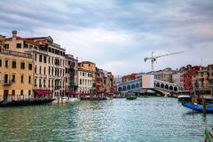 Rialto bridge (Ponte di Rialto) in Venice Royalty Free Stock Photography