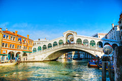 Rialto Bridge (Ponte Di Rialto) in Venice, Italy Stock Photography