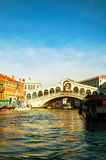 Rialto Bridge (Ponte Di Rialto) in Venice, Italy Royalty Free Stock Image