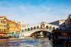 Rialto Bridge (Ponte Di Rialto) in Venice, Italy Stock Image