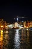 Rialto bridge (Ponte di Rialto) in Venice Royalty Free Stock Photo