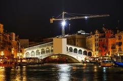 Rialto bridge (Ponte di Rialto) in Venice Royalty Free Stock Image