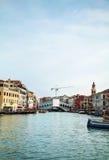 Rialto bridge (Ponte di Rialto) in Venice Royalty Free Stock Images
