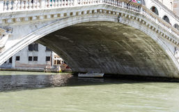 Rialto Bridge taken from the Grand canal Royalty Free Stock Photography