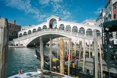 Rialto Bridge. Tourists on the Rialto Bridge, Venice Italy Royalty Free Stock Photo