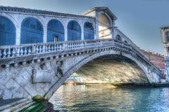 Rialto bridge under a gray sky Stock Photo