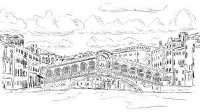 Rialto bridge. Vector - Rialto bridge, Venice, Italy Royalty Free Stock Image