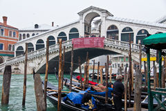 Rialto Bridge in Venice Royalty Free Stock Images