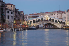 Rialto Bridge in venice Royalty Free Stock Image