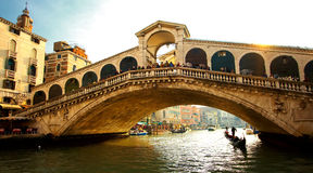 Rialto bridge at Venice Royalty Free Stock Photo