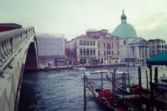 Rialto bridge in Venice Canal Grande Royalty Free Stock Photo