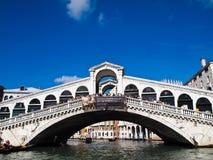 The Rialto bridge, Venice, Italy. The Rialto bridge with blue sky in Venice, Italy Stock Photography