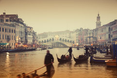 Rialto Bridge, Venice - Italy Royalty Free Stock Photography
