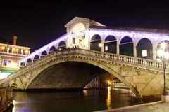 The Rialto bridge, Venice, Italy Stock Photography