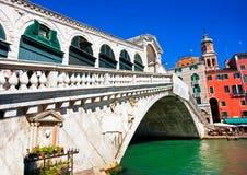 Rialto Bridge in Venice, Italy. Famous Ponte di Rialto in Venice, Italy royalty free illustration
