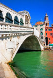 Rialto Bridge in Venice, Italy. Famous Ponte di Rialto in Venice, Italy stock illustration