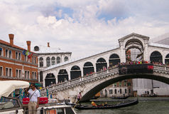 The Rialto bridge in Venice Italy Stock Photography