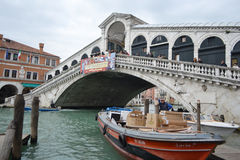 Rialto Bridge in Venice Stock Photography