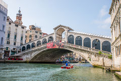 Rialto bridge in Venice, Italy Stock Photography