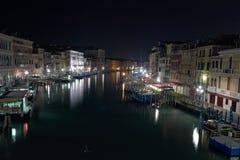 Rialto Bridge Venice Long exposure By Night. Royalty Free Stock Image