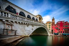 Rialto Bridge of Venice stock images
